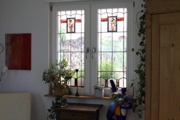 Fenster mit Kunstglas