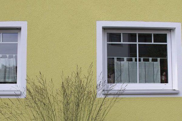 Kunststoff Fenster mit schmalen Sprossen