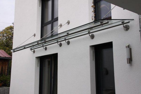 Vordach Edelstahl Glas Koppelelement in 71088 Holzgerlingen