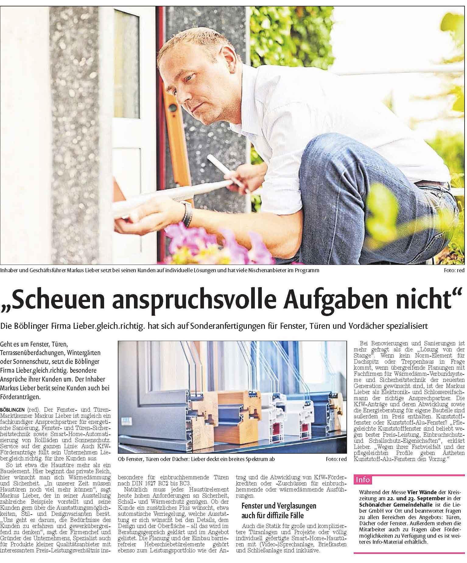 Berichterstattung_Lieber_Kreiszeitung_Boeblinger_Bote