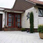 Haustüranlage mit sandgestrahlten Gläsern in 71116 Gärtringen