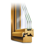 Holzfenster Classic Querschnitt