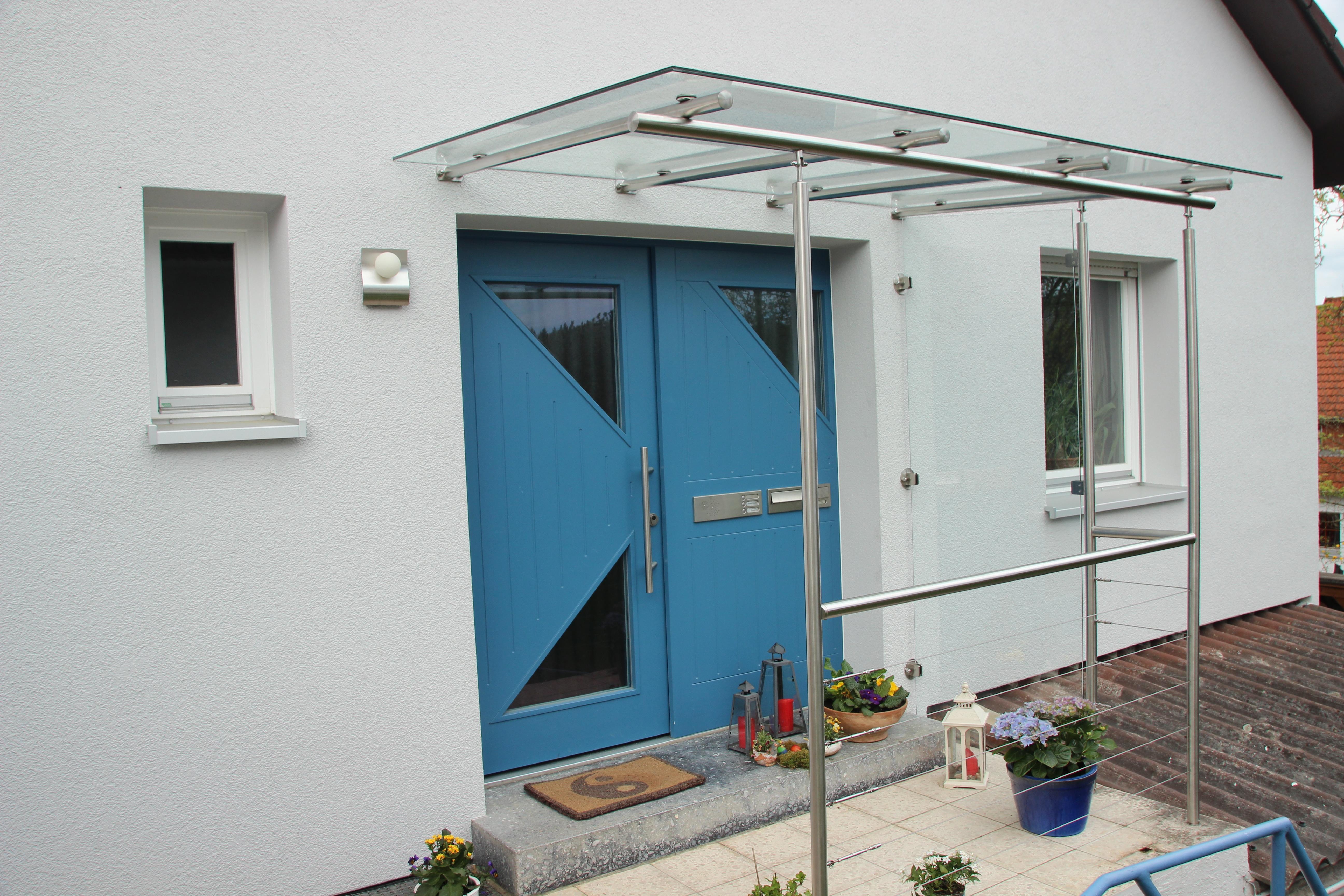 Vordach Glas Edelstahl Fur Hauseingang Lieber Gleich Richtig
