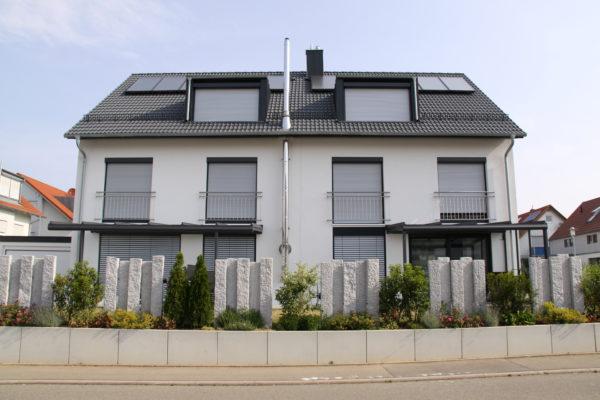 zwei schmale feine Aluminium Terrassendächer in gleicher Form und Farbe in 71157 Hildrizhausen