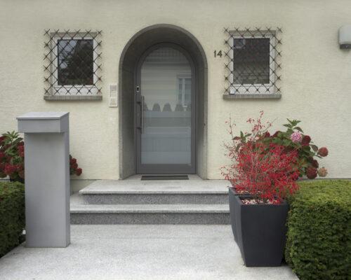 Eckig oder rund - Schlüssel oder Finger Rundbogen Aluminium Haustüre voll verschweißt preview