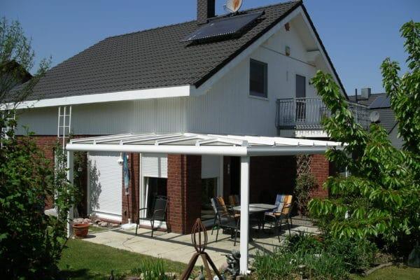 Terrassendach Eckanlage aus Aluminium