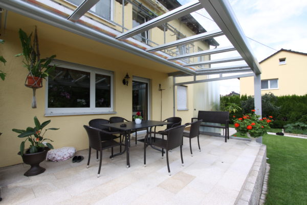 Balkonverlängerung durch Terrassendach