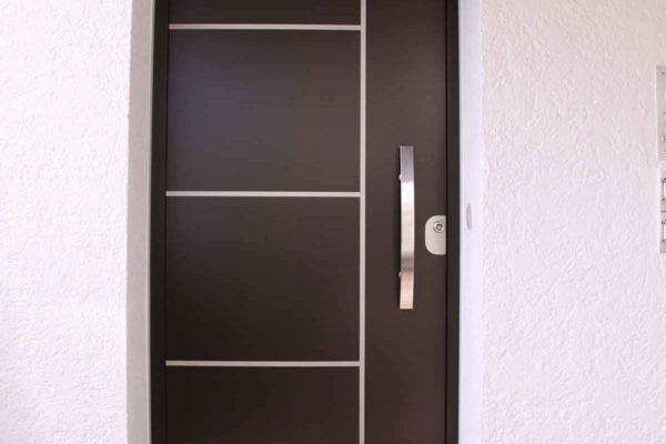 Haustüre Aluminium ohne Glas