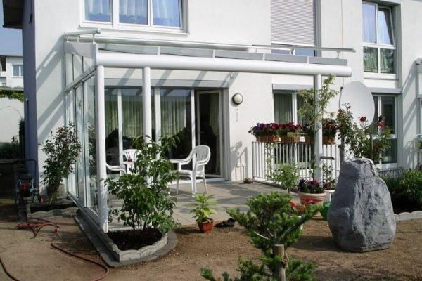 Terrassendach seitlich geschlossen beweglichen Schiebeelementen in 71034 Boeblingen-Diezenhalde