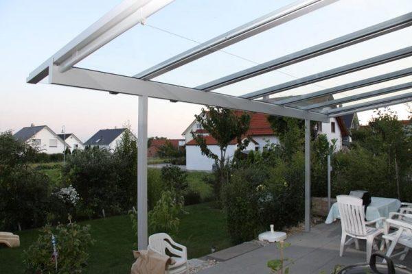 Terrassendach mit schmalen Profilen massgefertigt 70173 Stuttgart