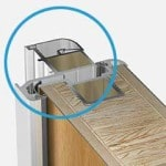 Wohnungeingangstuer-Schnitt-Aluminium-Fluegelprofil