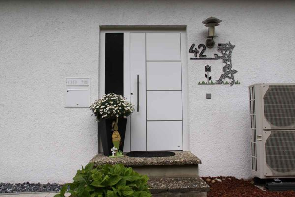 Aluminium Haustüre ohne Glas